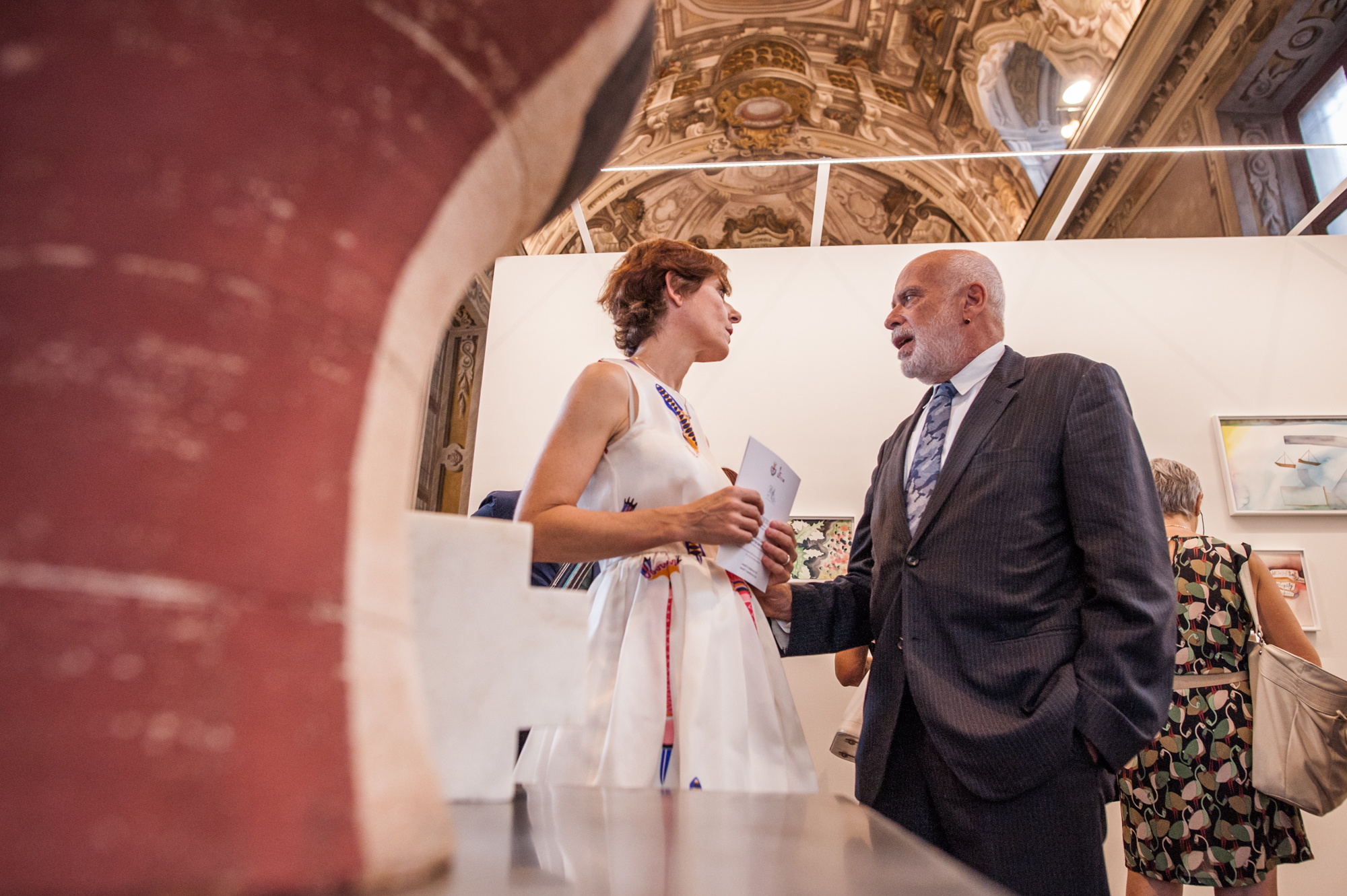 Roberta Ceretto con Francesco Clemente