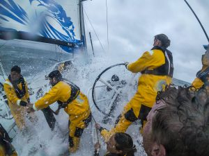 Leg Zero, Round Britain Island Race: DCIM147_VIRBVIRB0124- on board xx, . Photo by Jen Edney/Volvo Ocean Race. 02August, 2017