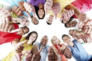 Large group of young people standing in the circle and showing ok with their hand gesture. They are isolated on the white background. View from below.  [url=http://www.istockphoto.com/search/lightbox/9786738][img]http://img830.imageshack.us/img830/1561/groupsk.jpg[/img][/url]